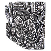 Arizona Puzzle In Pewter