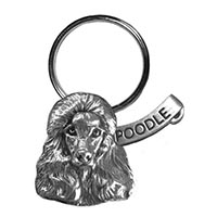 Poodle Large Key Chain