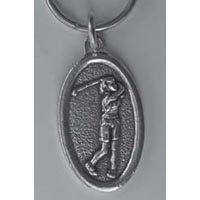 Female Golfer Vintage Key Chain