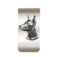 Doberman Money Clip