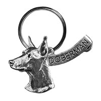 Doberman Large Key Chain
