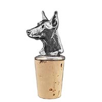 Doberman Bottle Stopper