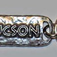 Tucson Petroglyph Key Chain With Copper Insert