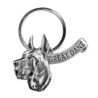 Great Dane Large Key Chain