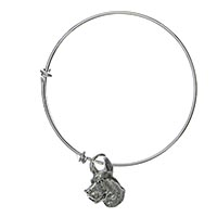 Great Dane Bangle Charm Bracelet