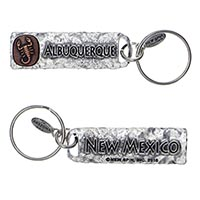 Albuquerque, New Mexico Petroglyph Key Chain Copper Insert