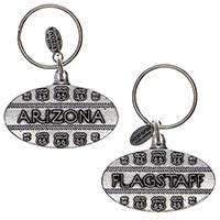 Flagstaff, Arizona Tire Track RT66 Key Chain