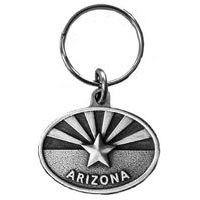 Arizona Flag Oval Key Chain