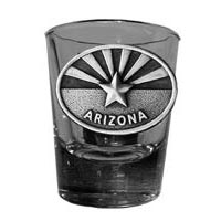 Arizona Flag Oval Shot Glass