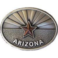 Arizona Flag Oval Belt Buckle