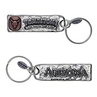 Tombstone (The Town Too Tough To Die) Petroglyph Key Chain