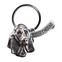 Basset Hound Large Key Chain