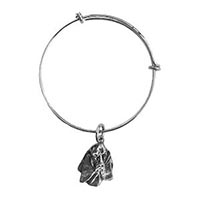 Basset Hound Bangle Charm Bracelet