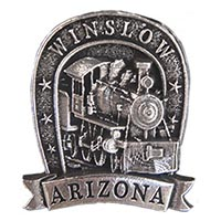 Winslow Locomotive Hat Pin