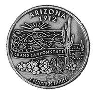 Arizona State Coin Magnet