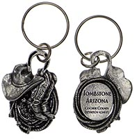 Tombstone Western Key Chain