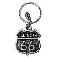 Illinois, RT66 Key Chain