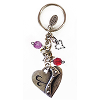 Whimsical Heart Keychain 1