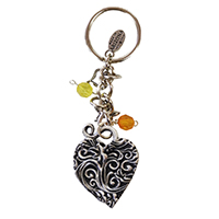 Whimsical Heart Keychain 3