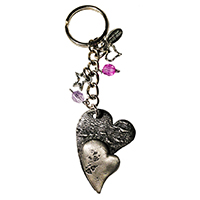 Whimsical Heart Keychain 6