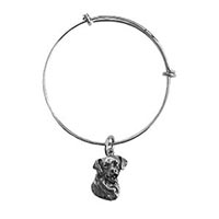 Pewter Rottweiler Bangle Charm Bracelet