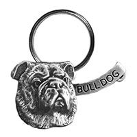 Bulldog Large Key Chain