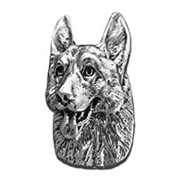German Shepherd Mini Magnet