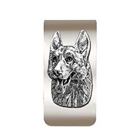 German Shepherd Money Clip