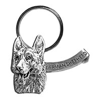 German Shepherd Large Key Chain