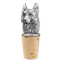 German Shepherd Bottle Stopper