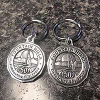 Fountain Hills 50th Anniversary Keychain