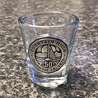 Fountain Hills 50th Anniversary Shot Glass